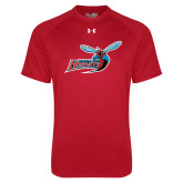 Under Armour Red Tech Tee-Delaware State Hornets w/Hornet
