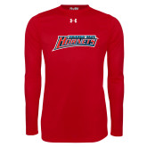 Under Armour Red Long Sleeve Tech Tee-Delaware State Hornets