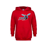 Youth Red Fleece Hoodie-Delaware State Hornets w/Hornet