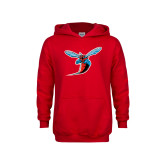 Youth Red Fleece Hoodie-Hornet