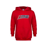Youth Red Fleece Hood-Delaware State Hornets