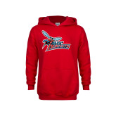 Youth Red Fleece Hood-Lil Hornets w/ Baby Hornet