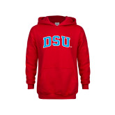 Youth Red Fleece Hoodie-Arched DSU