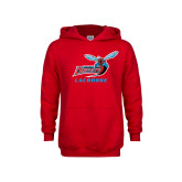 Youth Red Fleece Hood-Lacrosse