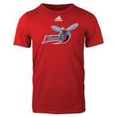 Adidas Red Logo T Shirt-Delaware State Hornets w/Hornet