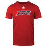 Adidas Red Logo T Shirt-Delaware State Hornets
