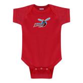 Red Infant Onesie-Delaware State Hornets w/Hornet