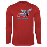 Performance Red Longsleeve Shirt-Softball
