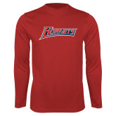 Performance Red Longsleeve Shirt-Hornets