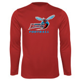 Performance Red Longsleeve Shirt-Football