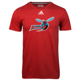 Adidas Climalite Red Ultimate Performance Tee-Delaware State Hornets w/Hornet