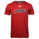 Adidas Climalite Red Ultimate Performance Tee-Delaware State Hornets