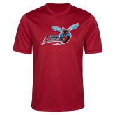 Performance Red Heather Contender Tee-Delaware State Hornets w/Hornet