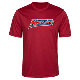 Performance Red Heather Contender Tee-Delaware State Hornets
