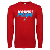 Red Long Sleeve T Shirt-Hornet Pride