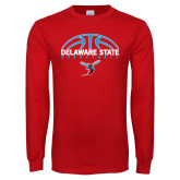 Red Long Sleeve T Shirt-Basketball Ball Design