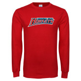 Red Long Sleeve T Shirt-Delaware State Hornets