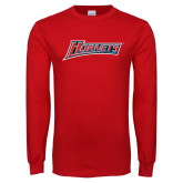 Red Long Sleeve T Shirt-Hornets