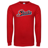 Red Long Sleeve T Shirt-State