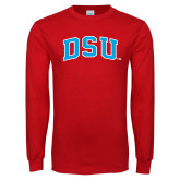 Red Long Sleeve T Shirt-Arched DSU