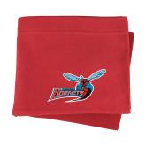 Red Sweatshirt Blanket-Delaware State Hornets w/Hornet