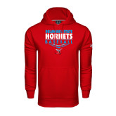 Under Armour Red Performance Sweats Team Hoodie-Abstract Baseball Design