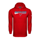 Under Armour Red Performance Sweats Team Hood-Lacrosse Stick Design