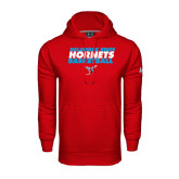 Under Armour Red Performance Sweats Team Hoodie-Basketball Text Design