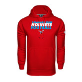 Under Armour Red Performance Sweats Team Hoodie-Football Text Design