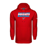 Under Armour Red Performance Sweats Team Hoodie-Baseball Text Design