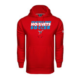 Under Armour Red Performance Sweats Team Hoodie-Soccer Text Design
