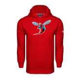 Under Armour Red Performance Sweats Team Hoodie-Hornet