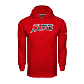 Under Armour Red Performance Sweats Team Hoodie-Delaware State Hornets