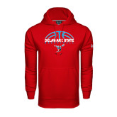 Under Armour Red Performance Sweats Team Hoodie-Basketball Ball Design