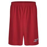 Midcourt Performance Red 9 Inch Game Short-Delaware State Hornets w/Hornet