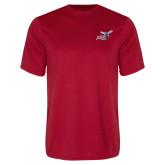 Performance Red Tee-Delaware State Hornets w/Hornet