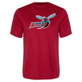 Syntrel Performance Red Tee-Delaware State Hornets w/Hornet