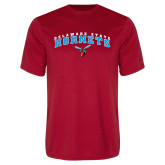 Performance Red Tee-Delaware State University w/Hornet