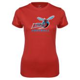 Ladies Syntrel Performance Red Tee-Football