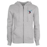 ENZA Ladies Grey Fleece Full Zip Hoodie-Hornet