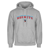 Grey Fleece Hoodie-Arched Delaware State Hornets w/Hornet
