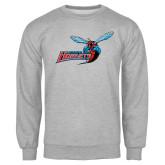 Grey Fleece Crew-Delaware State Hornets w/Hornet