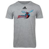 Adidas Sport Grey Logo T Shirt-Delaware State Hornets w/Hornet