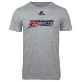 Adidas Sport Grey Logo T Shirt-Delaware State Hornets
