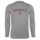 Performance Steel Longsleeve Shirt-Arched Delaware State Hornets w/Hornet