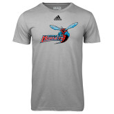 Adidas Climalite Sport Grey Ultimate Performance Tee-Delaware State Hornets w/Hornet