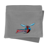 Grey Sweatshirt Blanket-Delaware State Hornets w/Hornet