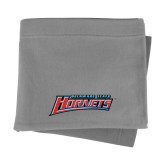 Grey Sweatshirt Blanket-Delaware State Hornets