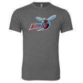 Next Level Premium Heather Tri Blend Crew-Delaware State Hornets w/Hornet