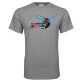 Grey T Shirt-Delaware State Hornets w/Hornet